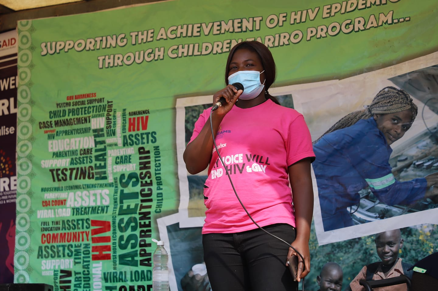 Youth Amplifying their voices against GBV and HIV.